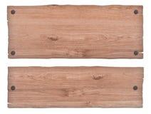 Ξύλινο σημάδι φύσης με τα καρφιά στοκ εικόνες