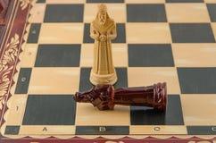 Ξύλινο σκάκι Στοκ Φωτογραφίες