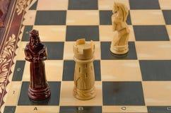 Ξύλινο σκάκι Στοκ φωτογραφία με δικαίωμα ελεύθερης χρήσης