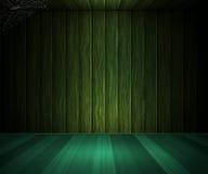Ξύλινο σκούρο πράσινο δωμάτιο Στοκ εικόνες με δικαίωμα ελεύθερης χρήσης