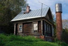 Ξύλινο σπίτι Αρχιτεκτονική της πόλης Ples, Ρωσία Στοκ Φωτογραφίες
