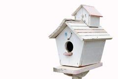Ξύλινο σπίτι πουλιών, ταχυδρομικό κουτί Στοκ φωτογραφία με δικαίωμα ελεύθερης χρήσης