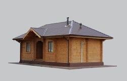 Ξύλινο σπίτι στο απομονωμένο υπόβαθρο Στοκ φωτογραφία με δικαίωμα ελεύθερης χρήσης