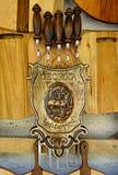 Ξύλινο σύνολο Goergian για να προετοιμαστεί shashlik στοκ εικόνες