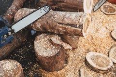 Ξύλινο τέμνον πριονιστήριο εργαλείων στοκ εικόνα με δικαίωμα ελεύθερης χρήσης