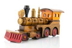 Ξύλινο τραίνο παιχνιδιών Στοκ φωτογραφίες με δικαίωμα ελεύθερης χρήσης