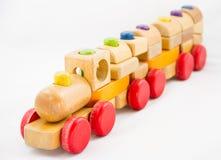 Ξύλινο τραίνο παιχνιδιών Διανυσματική απεικόνιση