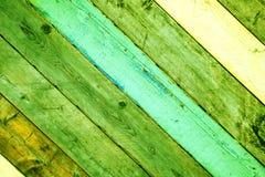 Ξύλινο υποβάθρου εκλεκτής ποιότητας ταπετσαριών πινάκων πολύχρωμο μπλε άσπρο πράσινο ufo colore πορτών κίτρινο φωτεινό στοκ φωτογραφία με δικαίωμα ελεύθερης χρήσης