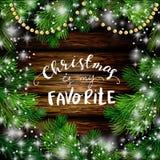 Ξύλινο υπόβαθρο σχεδίου έτους Χριστουγέννων νέο Στοκ Φωτογραφίες