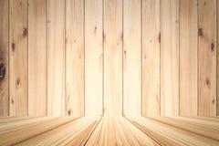 Ξύλινο υπόβαθρο σύστασης σανίδων για την επίδειξη προϊόντων Στοκ Εικόνες