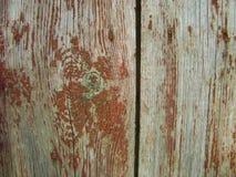 Ξύλινο υπόβαθρο σύστασης της παλαιάς ξύλινης χρωματισμένης επιφάνειας σύστασης με το χρώμα αποφλοίωσης Στοκ Φωτογραφία