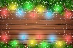 Ξύλινο υπόβαθρο Χριστουγέννων Στοκ φωτογραφία με δικαίωμα ελεύθερης χρήσης
