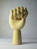Ξύλινο χέρι Στοκ εικόνα με δικαίωμα ελεύθερης χρήσης