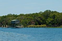 Ξύλινο Boathouse στοκ εικόνες