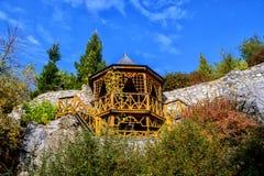 Ξύλινο gazebo Στοκ εικόνα με δικαίωμα ελεύθερης χρήσης