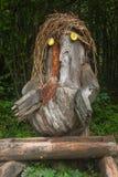 Ξύλινο goblin από ένα παλαιό κολόβωμα, λίμνη Bohinj, Σλοβενία στοκ φωτογραφία με δικαίωμα ελεύθερης χρήσης