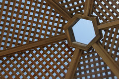 Ξύλινο sunshade Στοκ Φωτογραφία