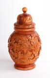 Ξύλινο Vase στοκ φωτογραφίες με δικαίωμα ελεύθερης χρήσης