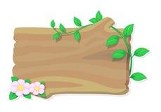 Ξύλο και λουλούδι, διάνυσμα Στοκ Εικόνες