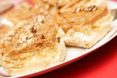 ξύλο καρυδιάς κέικ carmel kaymak Στοκ φωτογραφίες με δικαίωμα ελεύθερης χρήσης