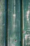 Ξύλο που χρωματίζεται στο πράσινο σμαραγδένιο χρώμα Στοκ Εικόνες