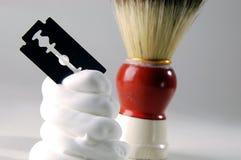 ξύρισμα κρέμας Στοκ φωτογραφίες με δικαίωμα ελεύθερης χρήσης