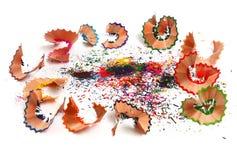 ξύρισμα μολυβιών σκόνης Στοκ Εικόνες