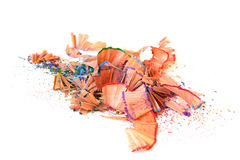ξύρισμα μολυβιών χρώματος Στοκ Φωτογραφίες