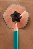 Ξύρισμα μολυβιών όπως έναν buble τρισδιάστατη εικόνα ιδέας έννοιας που δίνεται Στοκ Εικόνες