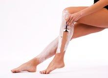ξύρισμα ποδιών Στοκ Εικόνες