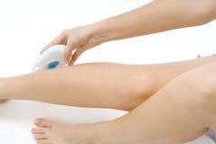 ξύρισμα ποδιών Στοκ Φωτογραφίες