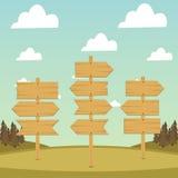 Ξύλινα βέλη και εμβλήματα Στοκ εικόνες με δικαίωμα ελεύθερης χρήσης