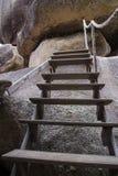 Ξύλινα βήματα σε Ταϊλανδό Στοκ Εικόνες