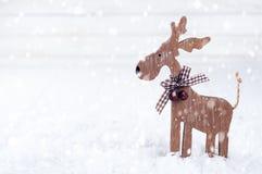 Ξύλινα ελάφια Χριστουγέννων Στοκ φωτογραφία με δικαίωμα ελεύθερης χρήσης