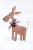 Ξύλινα ελάφια Χριστουγέννων Στοκ Εικόνες