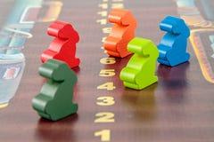Ξύλινα κομμάτια λαγουδάκι σε ένα επιτραπέζιο παιχνίδι Στοκ Εικόνες
