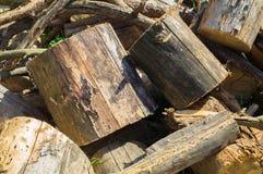 Ξύλινα κομμάτια Στοκ φωτογραφίες με δικαίωμα ελεύθερης χρήσης