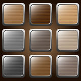 Ξύλινα κουμπιά Ελεύθερη απεικόνιση δικαιώματος