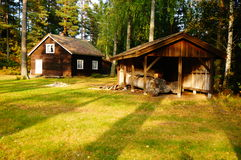 Ξύλινα κτήριο και σπίτι Telemark, Νορβηγία ξυλουργών Στοκ φωτογραφία με δικαίωμα ελεύθερης χρήσης