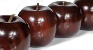Ξύλινα μήλα Στοκ Εικόνες