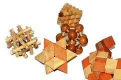 Ξύλινα παιχνίδια λογικής Στοκ φωτογραφία με δικαίωμα ελεύθερης χρήσης