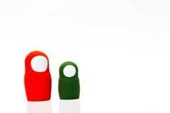 Ξύλινα παιχνίδια σε ένα άσπρο υπόβαθρο Στοκ φωτογραφία με δικαίωμα ελεύθερης χρήσης
