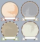 Ξύλινα πρότυπα ετικετών Στοκ Εικόνες