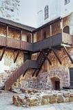 Ξύλινα σκαλοπάτια στο Τουρκού Castle στοκ εικόνα
