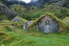 Ξύλινα σπίτια Nupstadur Στοκ εικόνα με δικαίωμα ελεύθερης χρήσης
