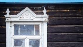 Ξύλινα στοιχεία προσόψεων αρχιτεκτονικής Παράθυρο Στοκ Εικόνες