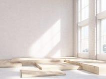 Ξύλινα τεμάχια κενών τοίχων απεικόνιση αποθεμάτων