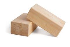 Ξύλινα τούβλα για τη γιόγκα σε ένα άσπρο υπόβαθρο Στοκ Φωτογραφία