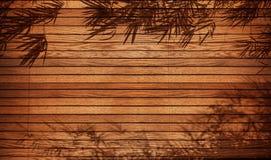 Ξύλινα υπόβαθρο & πλαίσιο με το μπαμπού Στοκ Εικόνα