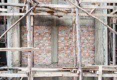 Ξύλινα υλικά σκαλωσιάς Στοκ Φωτογραφία
